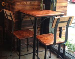 Antique Wooden Dining Table with Metal Leg M020 pictures & photos