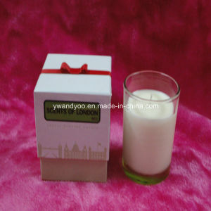 Scented Soy Candle in Glass Jar with Ribbon