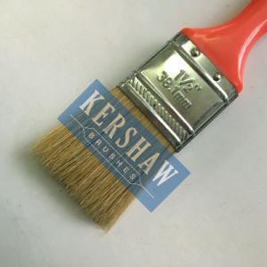Paint Brush (paintbrush, pure white bristle flat brush with plastic handle) pictures & photos