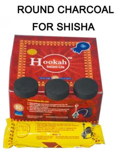 40mm Tablet Round Shisha Charcoal for Herb Natural Fruitwood Charcoal