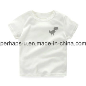 High Quality Printing Pure Color Boy Cotton T-Shirt Children Wear pictures & photos
