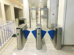 2016 Hot Selling Transparent Flap Barrier Wing Flap Turnstile