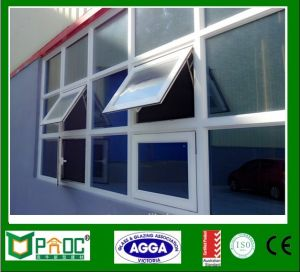 Adjustable Aluminum Frame Glass Top Hung Window with Customized Size pictures & photos