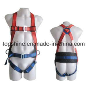High Quality Professional Industrial Polyester Adjustable Full-Body Harness Safety Belt pictures & photos