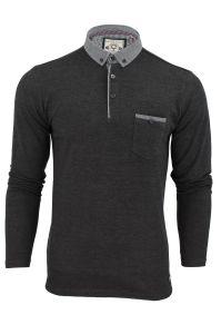 Men′s Long Sleeve Double-Weave Pique Cotton Polo Shirt (A324) pictures & photos