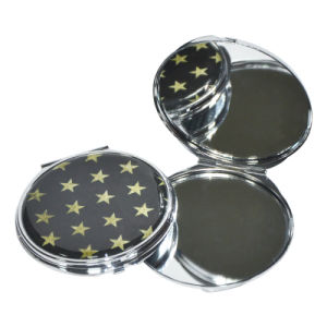 Whole Sale New Style Double-Sided Folding Cosmetic PU Mirror pictures & photos