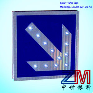 Aluminum Solar LED Flashing Road Sign with Reflective Sheeting pictures & photos