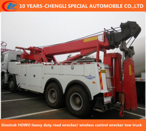 Sinotruk HOWO Heavy Duty Road Wrecker/ Wireless Control Wrecker Tow Truck pictures & photos