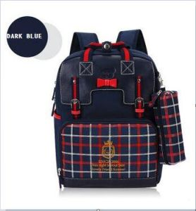 OEM Top Quality PU Leather School Backpack Bags pictures & photos