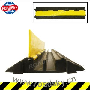 Safety Outdoor Event 2 Channel Rubber Cable Ramp for Sale pictures & photos
