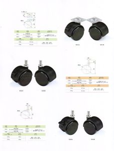 Furniture Fitting Threaded Stem Brake Caster pictures & photos