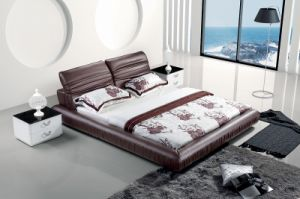Top&New Bed Room Genuine Leather Bed (SBT-5833) pictures & photos