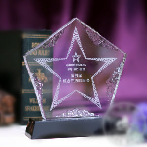 Crystal Glass Five Star Trophy Award for Decoration pictures & photos