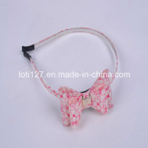 Beige Background, Pink Printing, Maiden Fair Maiden Wind Fashion Hair Accessories, Fashion Head Hoop, Tiaras