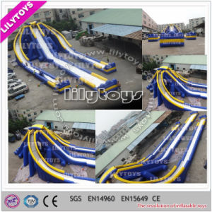 Exciting! Biggest Adult Inflatable Triple Water Slide for Adults (V-HP-046) pictures & photos
