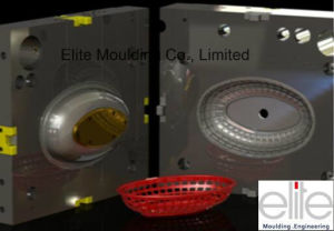 Plastic Injection Mould for Fruit Basket Set Parts and Tolling
