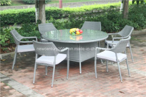 Outdoor Rattan Stackable Chair and Garden Big Kd Wicker Table pictures & photos