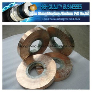 Hot Sale Polyester Insulation Cu/Pet Copper Foil for Coaxial Cable pictures & photos