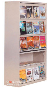 School Library Furniture Metal Magazine Shelf pictures & photos