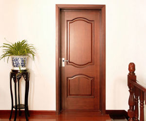 Modern Design Solid Wood Interior Swing Timber Door for Construction and Decoration pictures & photos