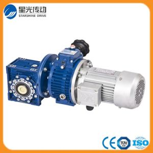 Blue Nmrv Worm Gearmotor with Stepless Speed Variator pictures & photos