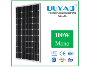 High Reliability and Solar Energy PV Solar Panel Monocrystalline 100W with Good Quality pictures & photos