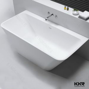 Kkr Artificial Stone Bath Freestanding Solid Surface Small Bathtub pictures & photos