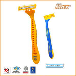 New Triple Stainless Steel Blade Disposable Shaving Razor (LV-3083) pictures & photos