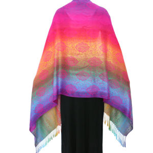 Lady Fashion Pashmina Rainbow Soft Wrap Scarf pictures & photos