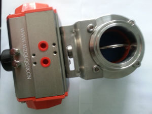 Stainless Steel Pneumatic Sanitary Clamped Butterfly Valve pictures & photos