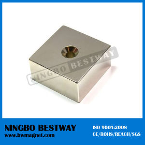 Super Strong N35uh Magnet Block with Hole pictures & photos