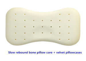The Bone Shape Memory Foam Latex Slow Rebound Perforated Baby Pillow pictures & photos