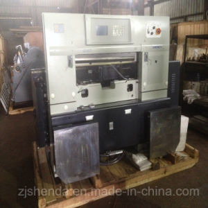 High Precision 920mm Hydraulic Programmable Paper Cutter with CE (QZ-92CT KS) pictures & photos