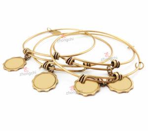 Fashion Adjustable Wire Charm Brass Bangle Bracelet (AWB50805) pictures & photos