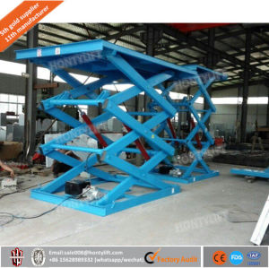 1t Stationary Scissor Lift Heavy Platform/Hydraulic Lift / Carrying Capacity Large Work Surface pictures & photos