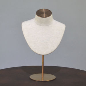Fiberglass Jewelry Display Neck Mannequin in Linen Wrapped pictures & photos