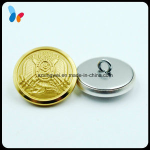 Custom Fashion Accessories Convex Metal Brass Military Uniform Button pictures & photos