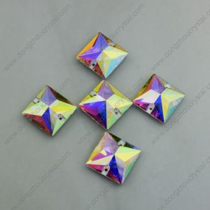 Square Flat Back Glass Beads with Hole pictures & photos