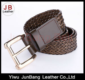 Hot Sell Ladies Bonded Leather Braid Belt pictures & photos