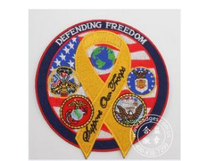 Freedom Embroidery Badge, Custom Garment Woven Patch (GZHY-PATCH-010) pictures & photos