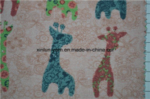 Animal Printing Kids Clothing Hudnred Natural Raw Linen Fabric pictures & photos