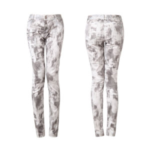 Pk-039 New Design Punk Winter Printing Form-Fitting Cone-Shape Pants pictures & photos