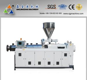 Conical Twin Screw Extruder/PVC Extruder/PVC Pipe Extruder pictures & photos