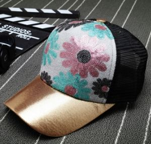 New Sequins Sunflower Simple Baseball Cap pictures & photos
