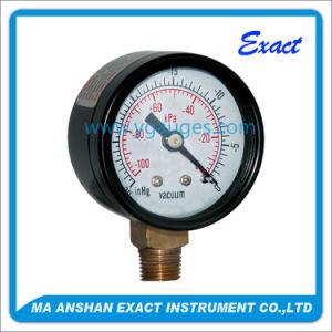 High Quality Economic Black Steel Vacuum Pressure Gauge pictures & photos