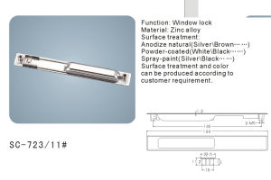 Sliding Window Lock /Window Hardware (SC-723-11#) pictures & photos