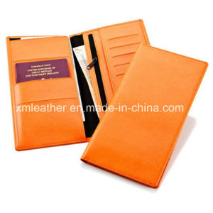 Zip Leather Document Holder Travel Passport Wallet pictures & photos