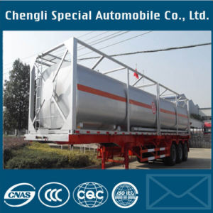 Hot Sale Supplier 3 Axles 40FT ISO Tank Container Trailer pictures & photos
