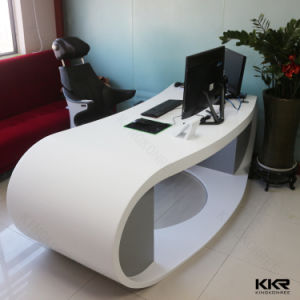 Custom Made Solid Surface Office Desk Reception pictures & photos