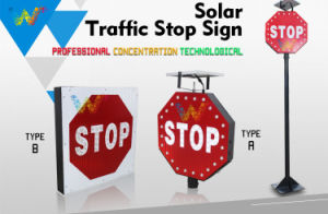 New Design Aluminum Waterproof Wind Resistant Driveway Solar Stop Sign pictures & photos